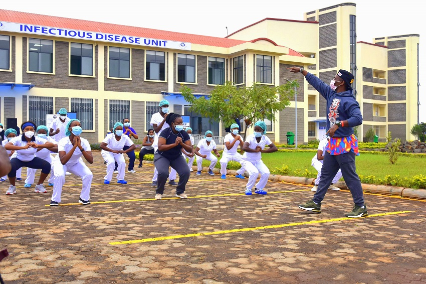Nurses week zumba KU Hospital infectioncontrol