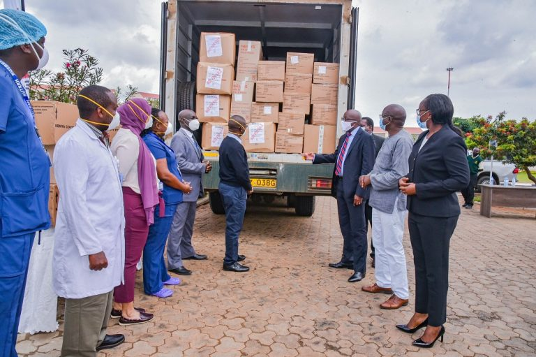 Kenya Covid 19 Fund and the Equity Group Foundation donated PPEs to KUTRRH