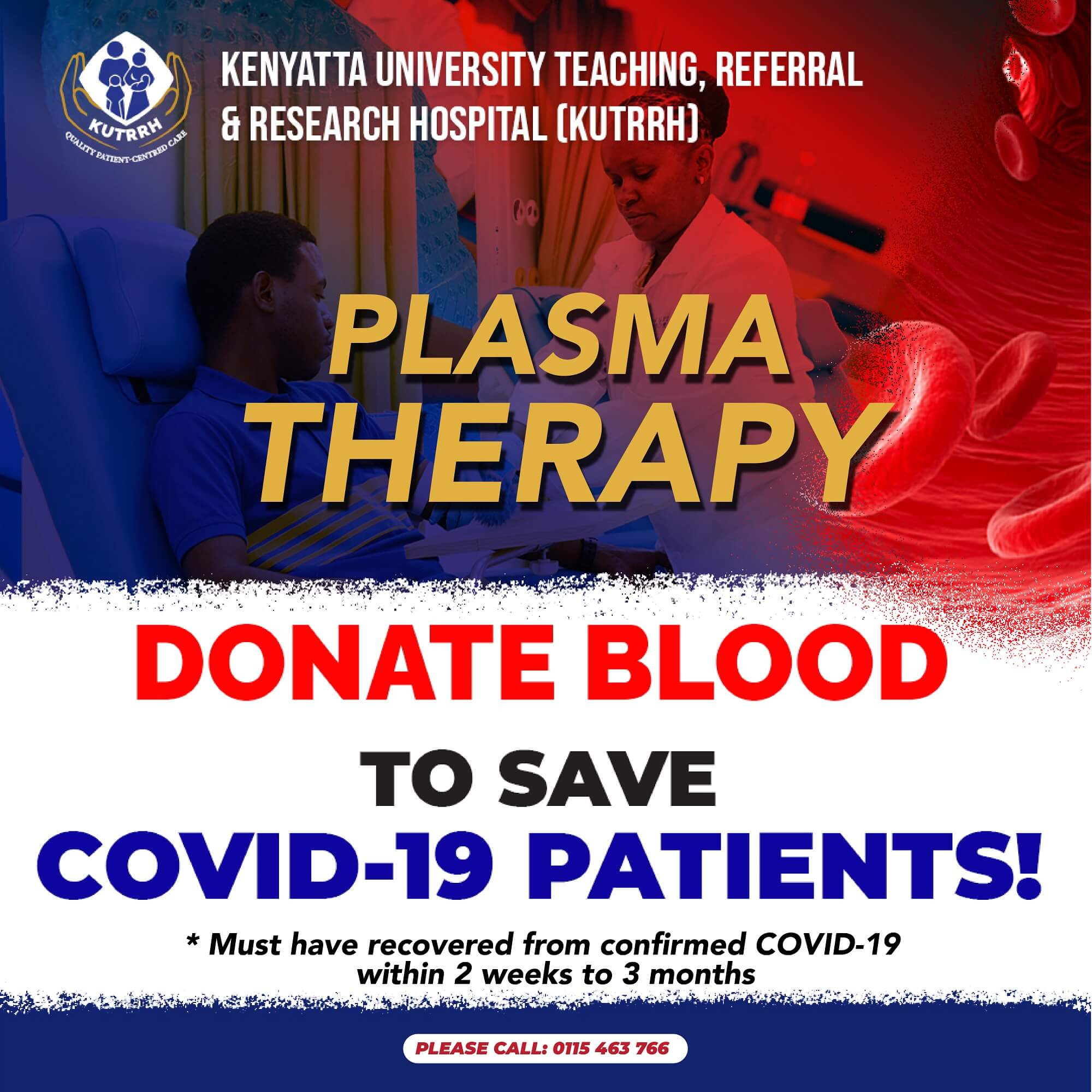 KUTRRH Convalescent Plasma Therapy Blood Donation Appeal